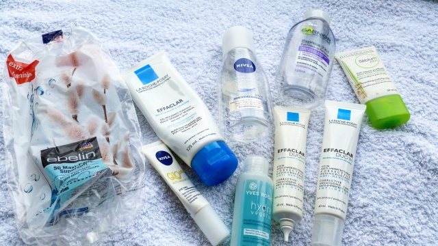 empties march  skin care la roche posay effaclar duo nivea makeup remover - beautyandatwist