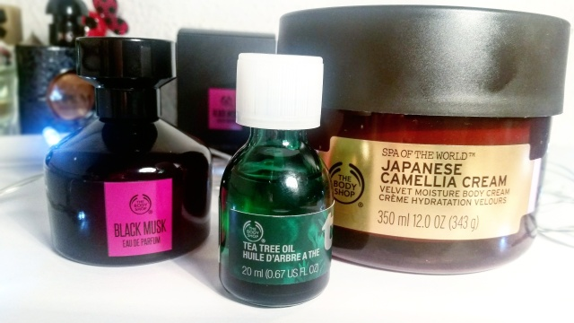 the body shop black musk tea tree oil spa of the world japanese camellia cream - beautyandatwist beauty blog