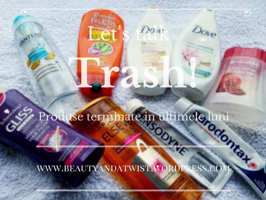 Let's talk trash! Produse terminate #1